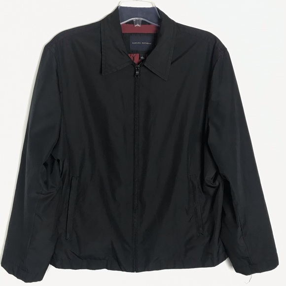 Banana Republic Other - Banana Republic men's black zip front jacket Sz L
